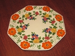 William Adams & Sons Titan Ware Hand Painted Dinner Plate