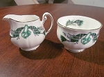 Ridgway Potteries Ltd Royal Adderley Creamer & Sugar Bowl