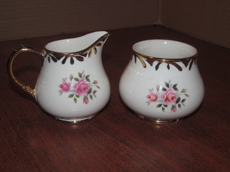 Arthur Wood Son Creamer Sugar Bowl Pattern 5525