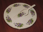 H. Aynsley & Co. Ltd Cake Plate & Knife