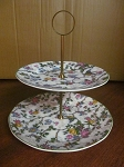 Barker Bros Ltd Royal Tudor Ware Two Tier Server