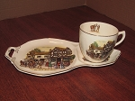 Barker Bros Ltd Royal Tudor Ware Teacup & Biscuit Plate