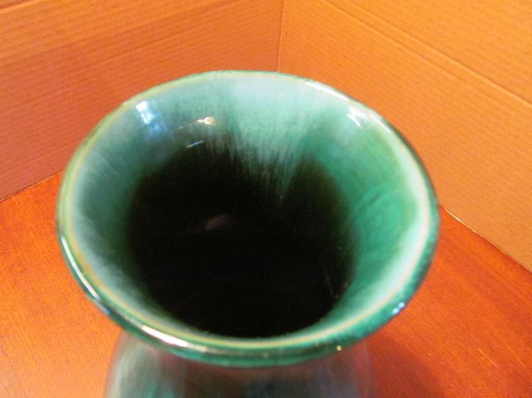 Blue Mountain Pottery Large Green Vase