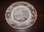 Canadian Historical Plate Series Dinner Plate Fort Henry Kingston - Engraved by Harold Reginald Ward H.E.