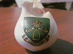 Wiltshaw & Robinson Ltd Heraldic Carlton Ware China Miniature Vase