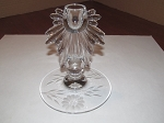 W.J. Hughes Corn Flower Glass Single Candle Holder