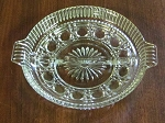 Federal Glass Co 2-Part Clear Relish Dish