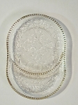 Jeannette Glass Co Crystal Ashtray/Coaster