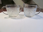 Anchor Hocking Glass Co Crystal Creamer & Sugar Bowl