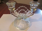Jeannette Glass Co Crystal Candlesticks