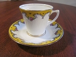 Edwards & Brown Duchess China Demitasse Cup & Saucer - England
