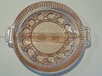 Federal Glass Co Pink 2 Part Relish Dish