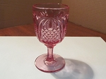 Fenton Art Glass Pink Pressed Glass Water Goblet