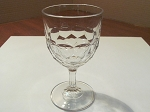 Gillinder & Sons Clear Pressed Glass Water Goblet