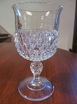 Indiana Glass Co. Clear Pressed Glass Goblet