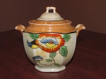 Made In Japan Lusterware Covered Sugar Bowl