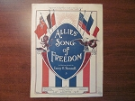 Original WWI Sheet Music