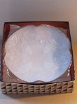 Anchor Hocking Glass Co Milk Glass Grapes and Leaves Design Footed Bowl