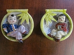 Occupied Japan Wall Pocket Set of 2