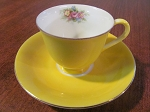 Castle China Demitasse Cup & Saucer - Occupied Japan