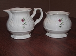 Price & Kensington Potteries Creamer & Sugar Bowl