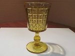 Richards & Hartley Glass Co. Amber Pressed Glass Water Goblet