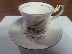 Rosina China Co Ltd Queens Teacup & Saucer Birds Of America