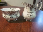 Thomas C. Wild & Sons Royal Albert Creamer & Sugar Bowl