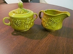 Royal Worcester Crown Ware Creamer & Sugar Bowl