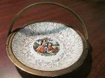 Sabin China Flower-O-Gold Porcelain Bowl With Serving Handle