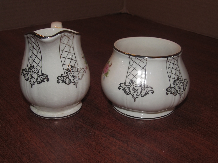 James Sadler Sons Ltd Creamer Sugar Bowl Pattern 3832 England