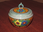 Seiei & Co. Hand Painted Lusterware Sugar Bowl - Japan