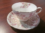 Shelley Potteries Ltd Teacup & Saucer Hedgerow Ideal China