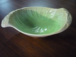 Shorter & Son Ltd Green Leaf Shaped Bowl