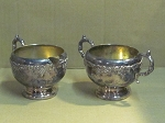 Lipman Bros Old English Silver Plate Creamer & Sugar Bowl