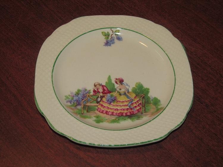 Swinnertons Ltd Hampton Ivory Square Pate Plate Quot Lilac