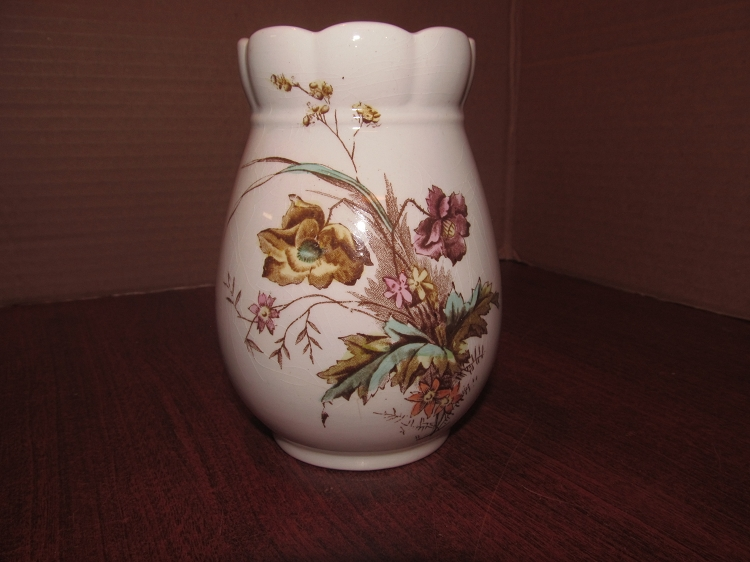 Arthur J Wilkinson Royal Ironstone China Vase Fall Flowers