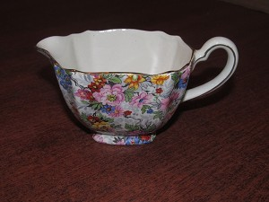 "Elijah Cotton Ltd Lord Nelson Ware Chintz Creamer ""Marina"""