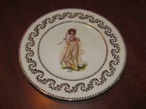 A.B Jones & Sons Royal Grafton Dinner Plate 'Pinky Lawrence'