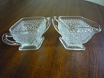 Indiana Glass Co Crystal Creamer & Sugar Bowl