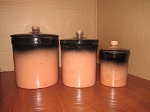 Medalta Potteries 3 Piece Kitchen Canister Set