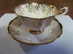 Thomas C. Wild & Sons Royal Albert Teacup & Saucer Golden Designs