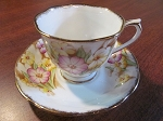 Thomas C. Wild & Sons Royal Albert Teacup & Saucer Pink & Yellow