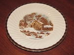 Sovereign Potters Earthenware Luncheon Plate Currier & Ives