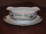 Toki Kasha Co. Nippon (Noritake Co.) Gravy Boat & Under Plate