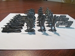 WWI Canadian Army Lead Cast Toy Soldiers - Set of 26 Figurines