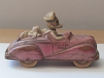 Viceroy Rubber Donald Duck Rubber Convertible Car - Made In Canada Version - 1940's