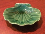Josiah Wedgwood & Sons Ltd Green Creamware Shell Dish